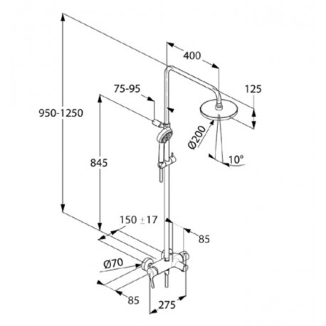 DUAL SHOWER SYSTEM