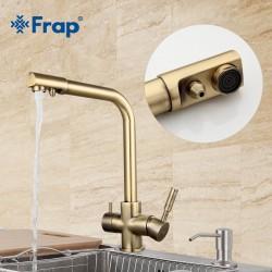 Frap 4352-4 смеситель для кухни с фильтром бронза