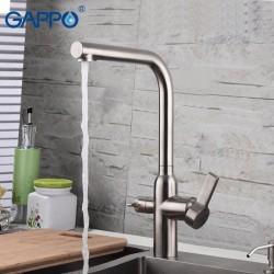 G4399-4 Cмеситель Кухня GAPPO d-35 с подключением фильтра питьевой воды НЕРЖАВЕЙКА