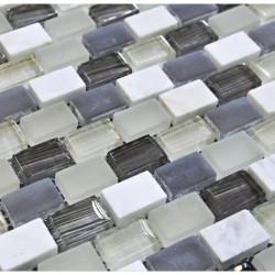 МРАМОР СТЕКЛО мозаика, размер кубика 1,5 x 2,2 см
