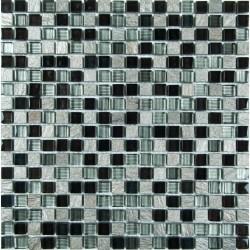 МРАМОР СТЕКЛО мозаика, размер кубика 1,5 x 1,5 см