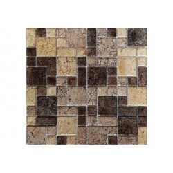 МРАМОР СТЕКЛО мозаика, размер кубика2,3 х 2,3 - 4,8 х 4,8 - 2,3 х 4,8 см.