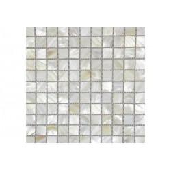 НАТУРАЛЬНАЯ РАКУШКА мозаика, размер кубика 2,5 x 2,5 см
