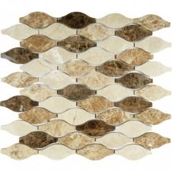 МРАМОР  мозаика, размер кубика 3,3x7,4 см