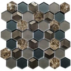МРАМОР СТЕКЛО мозаика, размер кубика 4.8x5.5 см