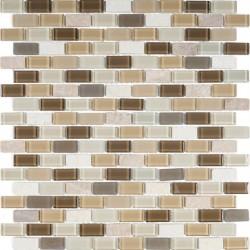 МРАМОР СТЕКЛО мозаика, размер кубика 1,5 x 3 см.
